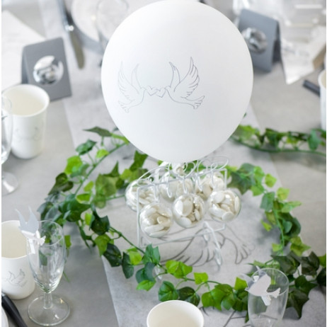 Ballon gonflable Colombe Blanc