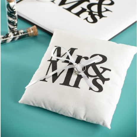 Coussin porte alliance Mr Mrs
