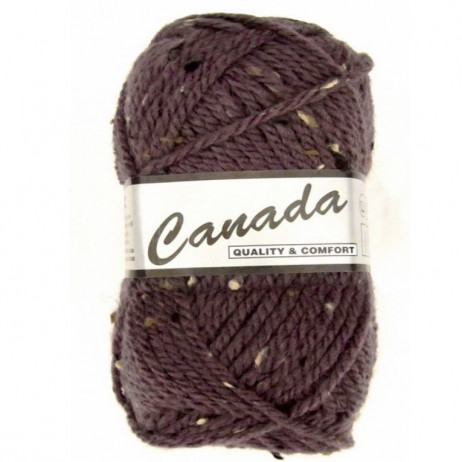 Fil a tricoter Canada Tweed Lammy Parme