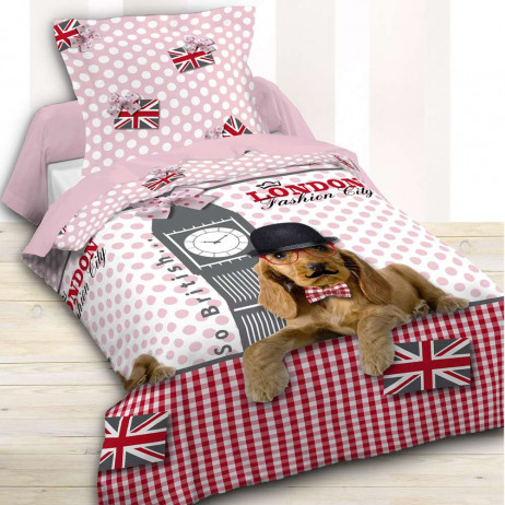 Housse de couette Fille 140x200 London Candy