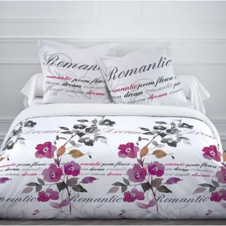 housse de couette pas cher 220x240 romantic dream linge de maison badaboum. Black Bedroom Furniture Sets. Home Design Ideas