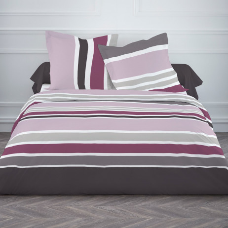 Housse de couette TODAY 220x240 Rayures Rose