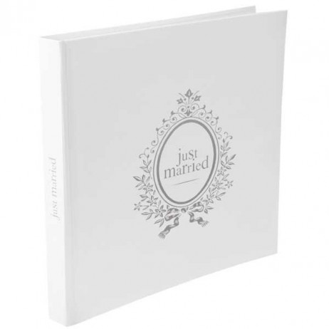 Livre d'or blanc Just married
