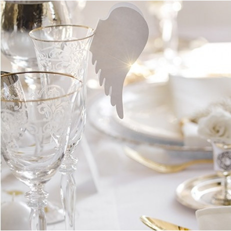 Marque place mariage Aile d'ange