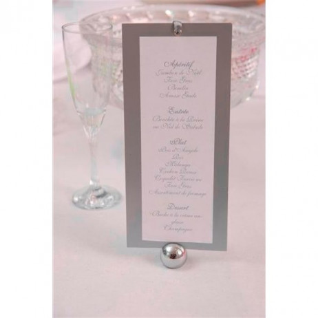 Menu rectangle mariage