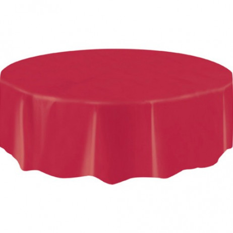 nappe en plastique ronde rouge 210cm nappe pas cher badaboum. Black Bedroom Furniture Sets. Home Design Ideas