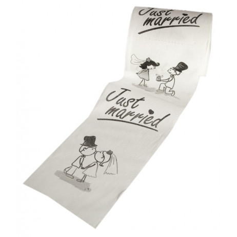 Papier toilette mariage Just Married