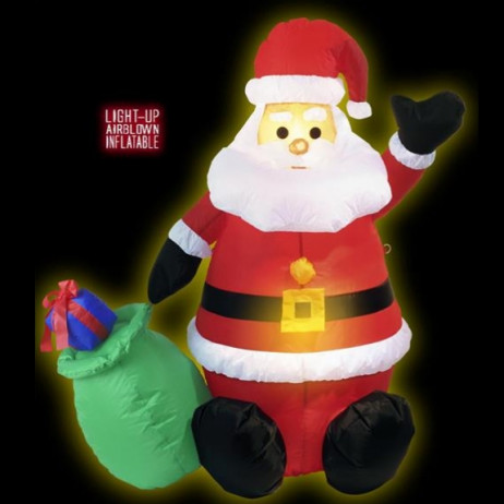 Pere Noel Gonflable lumineux