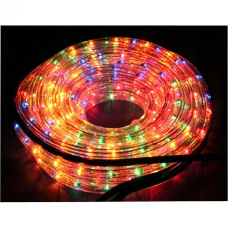 Guirlande LED en tube multicolore 12 mètres