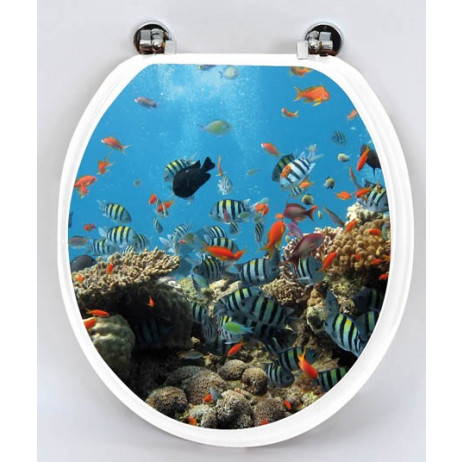 Abattant WC MDF Poissons