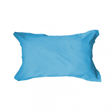 Taie d'oreiller unie 50x70 rectangulaire Turquoise