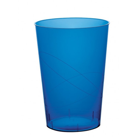 Verre a bi re en plastique rigide bleu marine transparent for Piscine plastique rigide