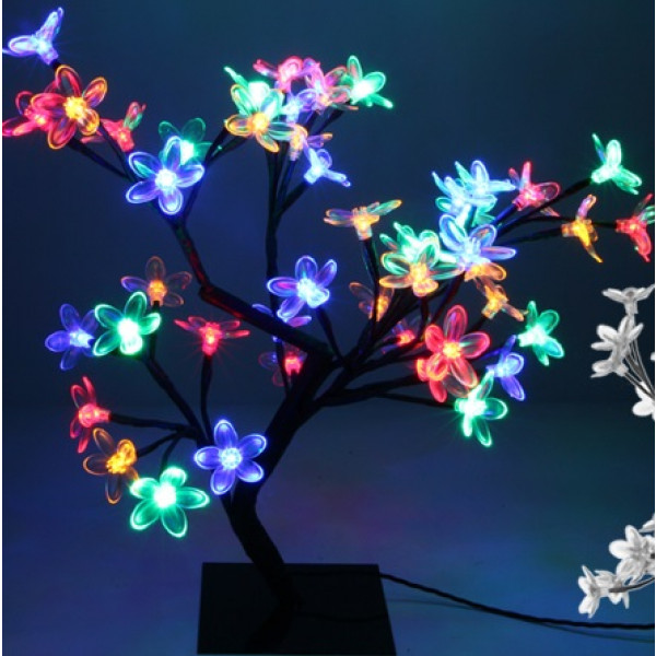 arbre lumineux de noel exterieur multicolore 48led deco noel pas cher badaboum. Black Bedroom Furniture Sets. Home Design Ideas