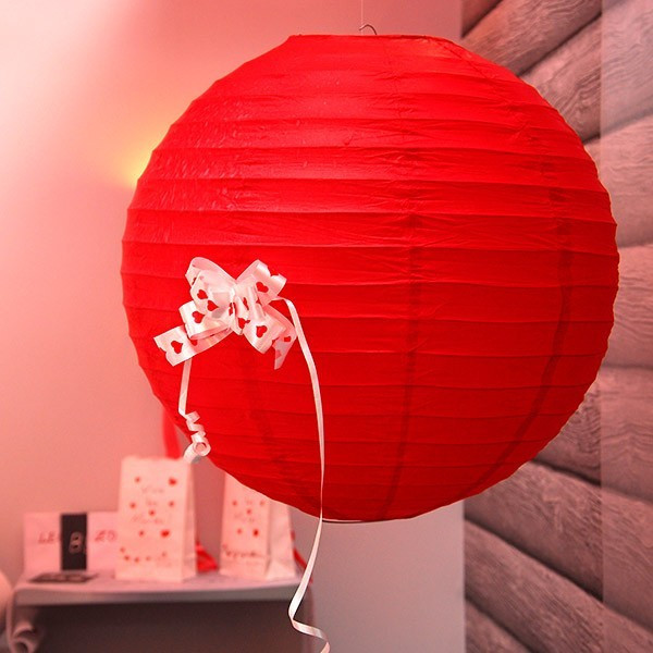 lampion papier g ant rouge 50cm pas cher pour mariage badaboum. Black Bedroom Furniture Sets. Home Design Ideas
