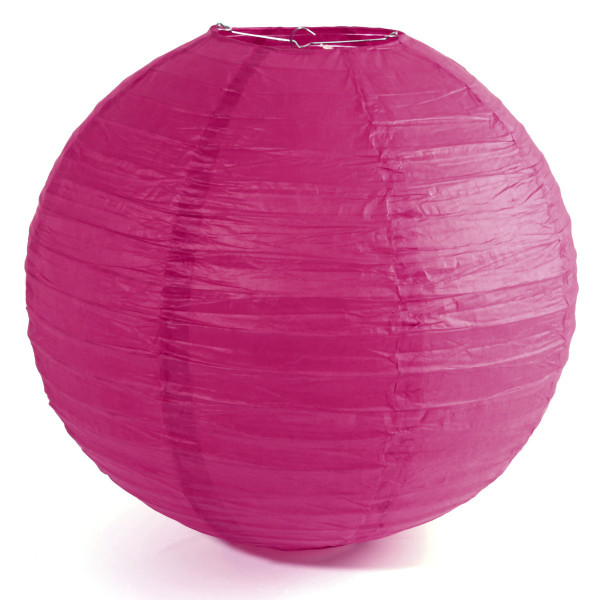 boule lampion g ante fuchsia 75cm decoration mariage badaboum. Black Bedroom Furniture Sets. Home Design Ideas