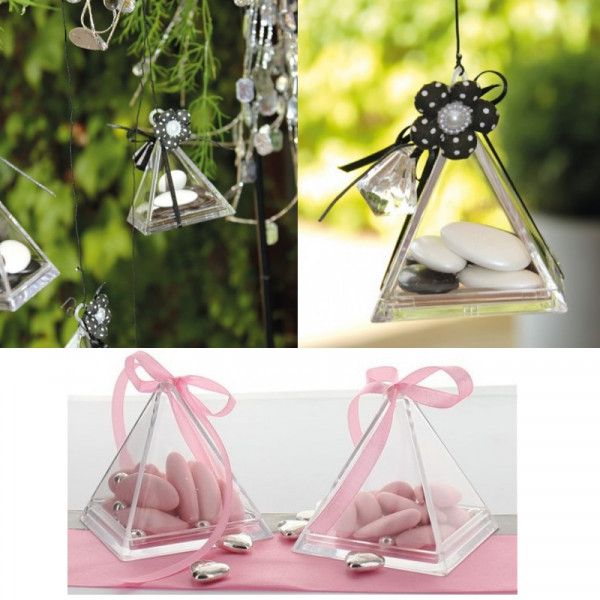 pyramide dragees plexi - Contenant Drage Mariage