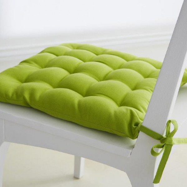 galette chaise ronde vert anis