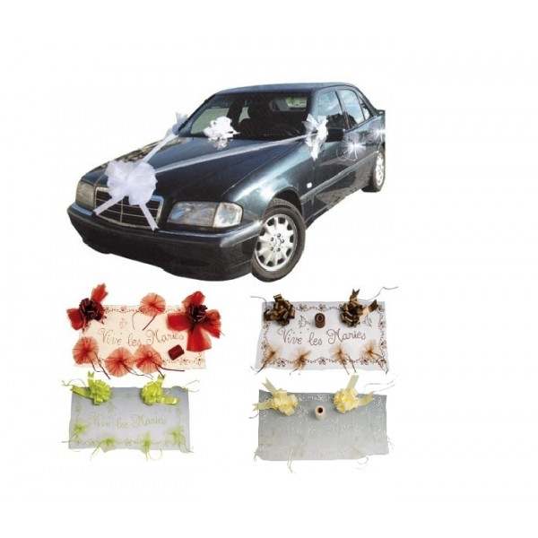 ... > Mariage > Décoration voiture mariage > Kit déco voiture Mariage