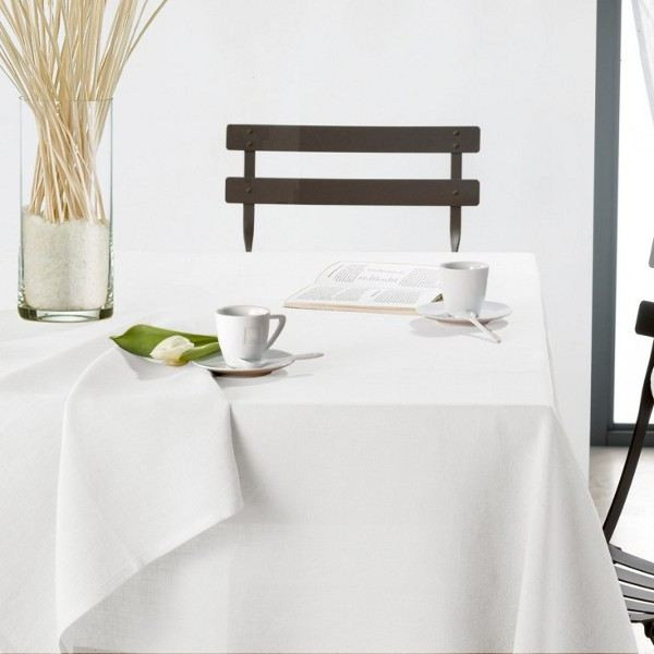 nappe blanche rectangulaire pas cher table de cuisine. Black Bedroom Furniture Sets. Home Design Ideas