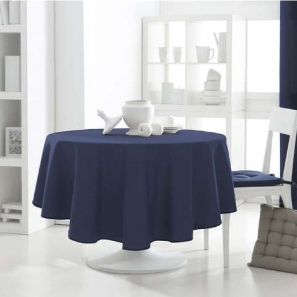 nappe ronde bleu marine les ustensiles de cuisine. Black Bedroom Furniture Sets. Home Design Ideas