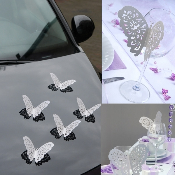 papillon g ant blanc pour decoration de voiture mariage decoration mariage badaboum. Black Bedroom Furniture Sets. Home Design Ideas