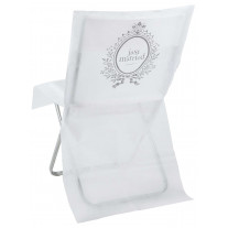 Housse de chaise blanche just married