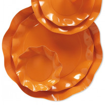 Assiette en carton design Vague Orange 27cm
