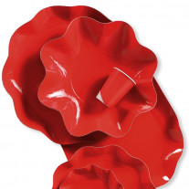 Assiette en carton design Vague Rouge 27cm
