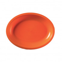 Assiette plastique Ovale Orange