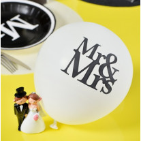 Ballon gonflable Mr & Mrs x8 pièces