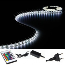 Bande ruban lumineux flexible plat 150 LED Blanc