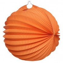 Boule en papier accordéon Orange 20cm