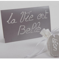 Carte d'invitation Gris