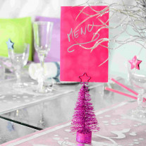 Carte d'invitation Fuchsia x10