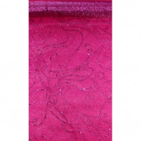 Chemin de table en organza Diamant Fuchsia