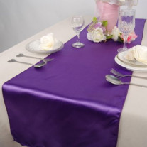 Chemin de table en satin Violet 36cm