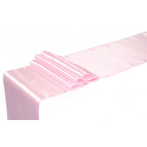 Chemin de table mariage en satin Rose 36cm