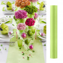 Chemin de table mariage pas cher en satin fuchsia 36cm for Chemin de table pour table ronde
