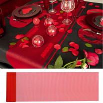 Chemin de table organza Rouge 36cm x 9m