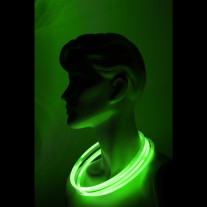 Collier lumineux fluo Vert anis