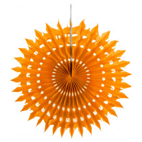 Eventail Dentelle Orange 20cm