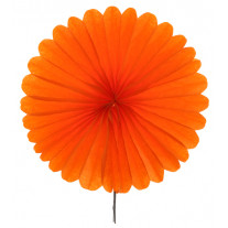 Eventail mariage Orange 40cm en papier