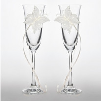 Flute a champagne mariage Papillon