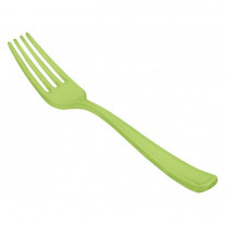 Fourchette plastique Vert anis x 20