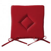 Galette de chaise Rouge unie Today forme carrée  40 x 40cm