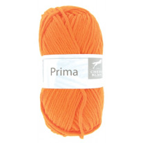 Grosse pelote de laine Prima Orange Fluo
