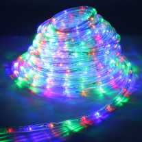 Guirlande LED en tube multicolore 18 mètres