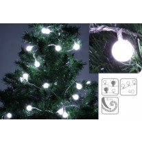 Guirlande lumineuse 40 Boules LED Blanches