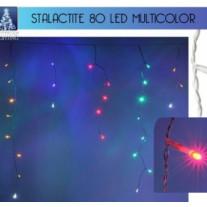 Guirlande lumineuse stalactite 80 LED Multicolore