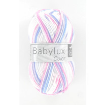 Laine bébé cheval blanc babylux color multicolore